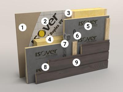 Ruimtebesparend, geprefabriceerd gevelsluitend element met RKL 31-Façade en gevelbekleding